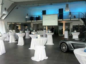 Lichttechnik für eine Betriebsfeier im Autohaus